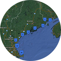 screen shot of EcoSystem Indicator Partnership Monitoring Map