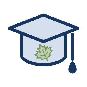 graphic icon for maple syrup grading school icon