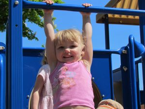 Happy at the Playground