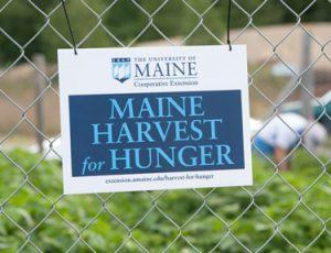 Maine Harvest for Hunger sign