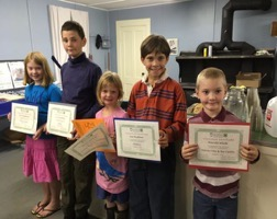 Members of Wild Blueberry 4-H Club