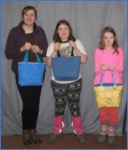 3 girls and the bags they made