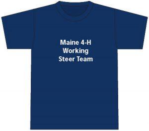 4-H T-Shirt: front, navy