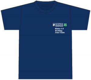 4-H T-Shirt: front, navy, printing on pocket