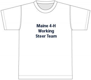 4-H T-Shirt: front, white
