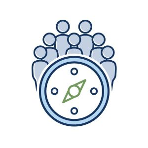 icon for personnel hr new staff orientation icon
