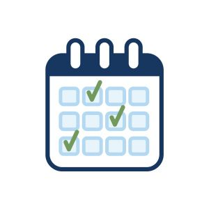 icon for home page: calendar of events icon