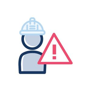 icon for personnel hr safety in the workplace icon
