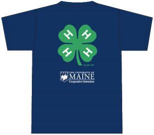 4-H T-Shirt: back, navy