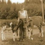 calves and young 4-H member