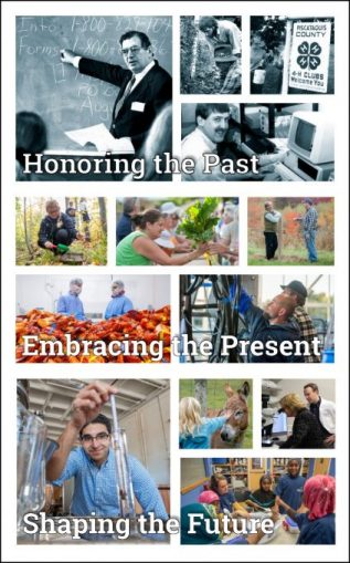 Collage for the 2019 All Organizational Meeting: Honoring the Past, Embracing the Present and Shaping the Future