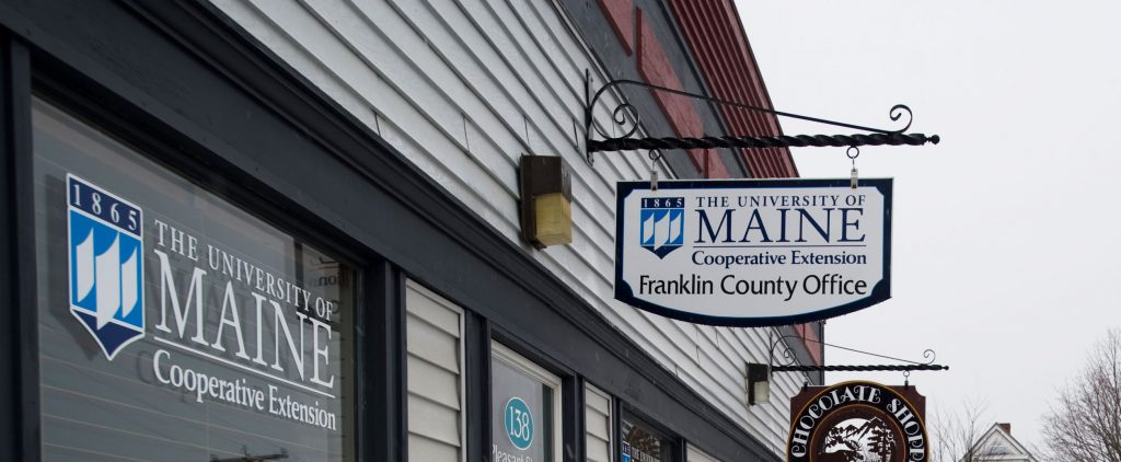 The University of Maine Cooperative Extension Franklin County office sign