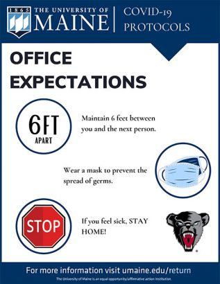 Office Expectations sign