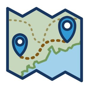 "icon graphic for UMaine Extension's ""Roadmap"" strategic plan landing page"