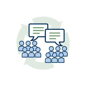 icon graphic for Successful Communications and Marketing /Roadmap Committee