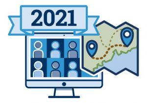 icon graphic for 2021 Virtual Conference, UMaine Extension's Roadmap home page