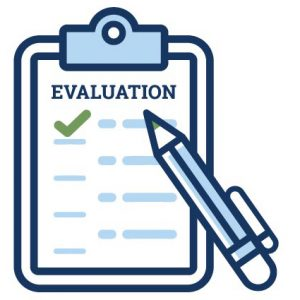 evaluation survey icon graphic