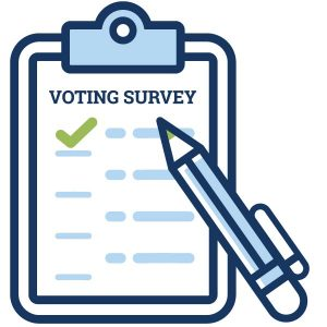 voting survey icon graphic