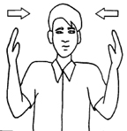 Hand Signal for This Far to Go