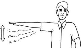Hand Signal for Slow Down