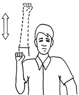 Hand Signal for Speed Up
