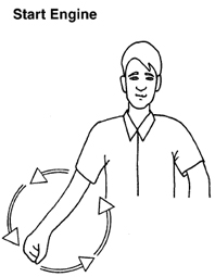 Hand Signal for Start Engine