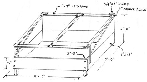 Drawing of a cold frame