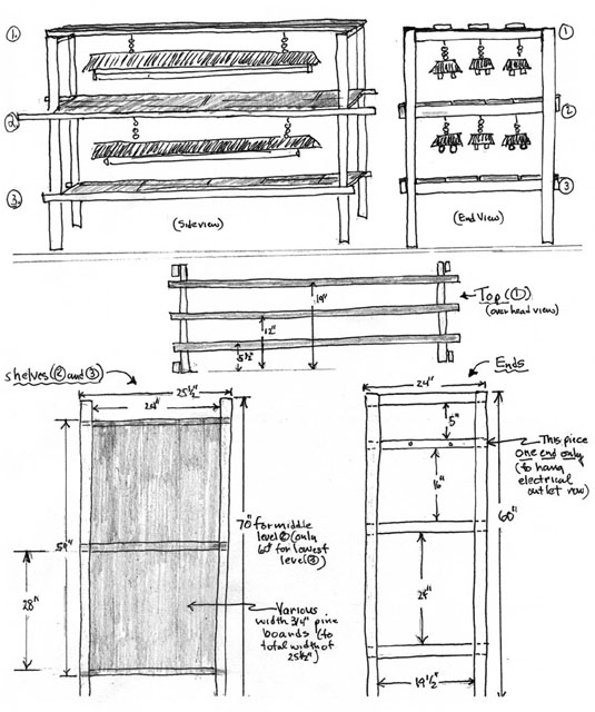 Two Tier Plant Stand Diagram