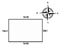 diagram showing orientation of house