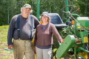 Ralph and Lisa Turner, Laughing Stock Farm; photo by Edwin Remsberg