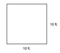 illustration of a 10 ft. x 10 ft. square plot