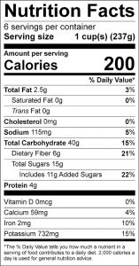 Late July Salad Nutrition Facts Label (click for details)