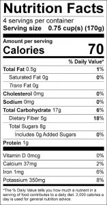 Squash Apple Casserole Food Nutrition Facts Label (click for details)