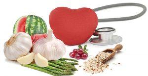 stethescope, garlic, watermelon, asparagus, cranberries, grains