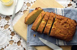 Sliced gluten-free quick bread
