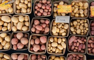 potatoes for sale at farmers market