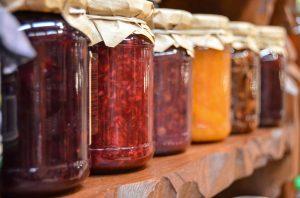 jars of homemade jam