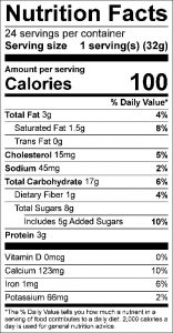 Hermits Food Nutrition Facts Label: Click on this image for complete nutrition information.