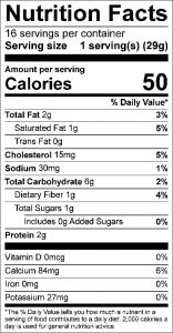 Oat Pancakes Food Nutrition Facts Label: Click on this image for complete nutrition information.
