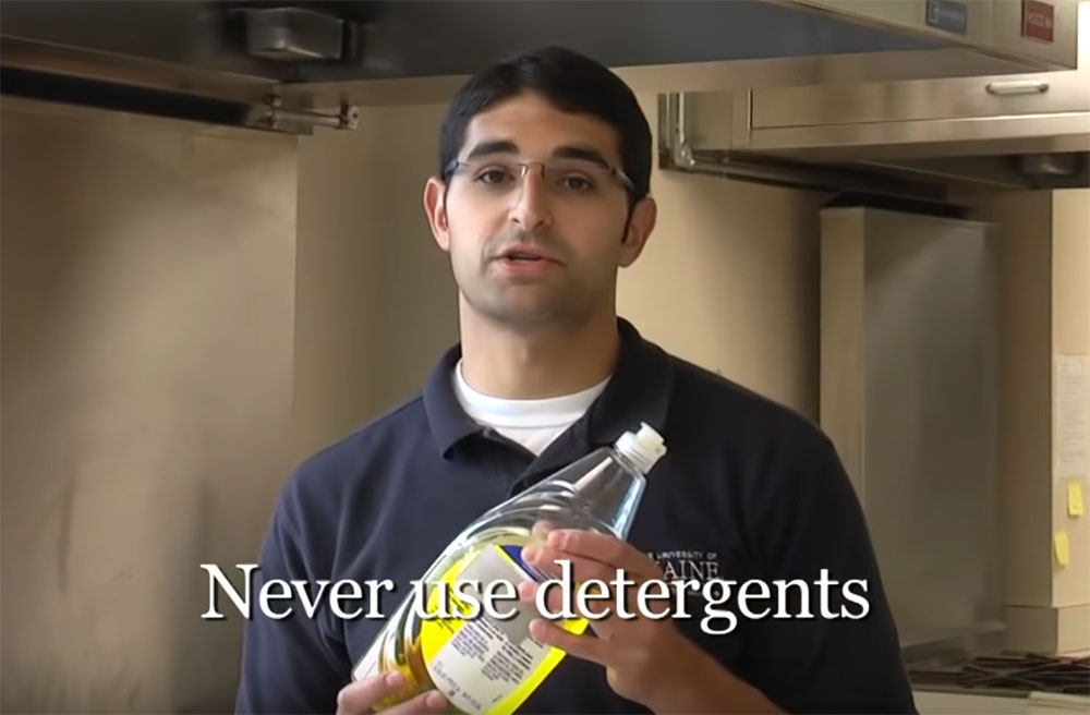 Jason Bolton: Never use detergents