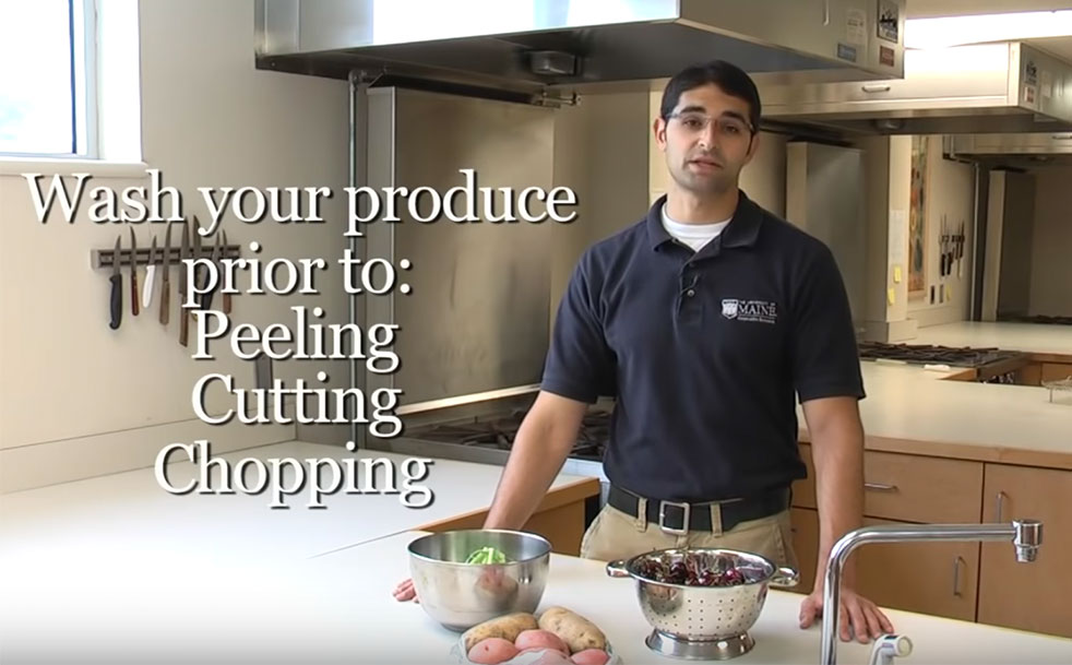 Jason Bolton: Wash your produce prior to peeling, cutting, chopping