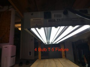 4-bulb T-5 light fixture