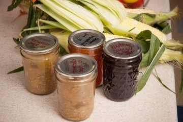 food preserved in canning jars