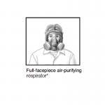 Illustration of full-facepiece air-purifying respiratorespirator