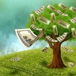 illustration of money growing on tree