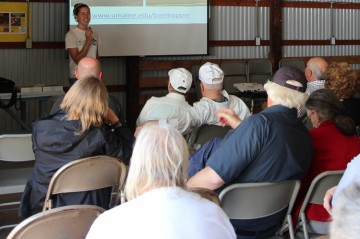 Farmers and blueberry growers at Blueberry Hill Farm Field Day 2019