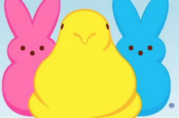 Pink Yellow and Blue Marshmallow Peeps