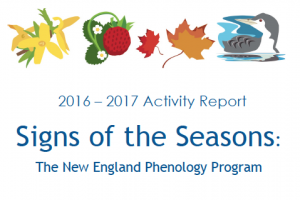 Screenshot of title for the Signs of the Seasons 2016-2017 Activity Report