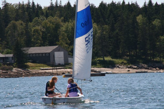 2 campers sailing with St. George Sailing Foundation