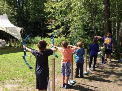archers take aim at their targets